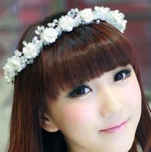 Handmade crystal luxury hair accessory a flower bride hair accessory large wedding marriage accessories