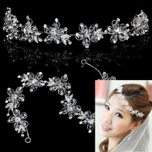 Crystal soft chain performance hair accessory the bride hair accessory rhinestone wedding dress marriage accessories
