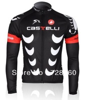 2013 castelli Winter Thermal Fleece Cycling Jersey Cycling Jacket Long Sleeve/Ciclismo Bicicletas Jersey Thermal cycle-monton