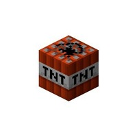 Free shipping (Min order 10$) Minecraft 3D paper model #010 TNT block 6pcs/lot anime minecraft model