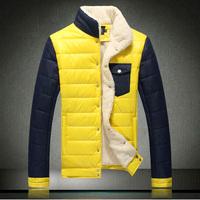 Winter wadded jacket male plus size plus size cotton-padded jacket plus velvet thickening outerwear slim men's clothing wadded