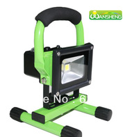 Free shipping,Hot sale!  Cordless hand-carry rechargeable 10W IP65 waterproof outdoor LED Flood light with battery
