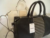 hot 2014 classic mango nmg bag pillow pack  classical bowling rivet handbag messenger woman bags black shipping