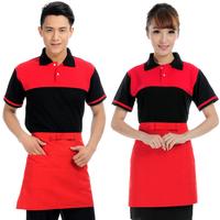 (10pcs-free ship) Summer work wear female summer work wear short-sleeve work wear  Western Restaurant waiter uniforms