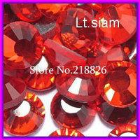 SS16 3.8-4.0mm,1440pcs/Bag Lt.Siam DMC Hot Fix Flat Back Rhinestones,DIY Lt.red iron-on garment Hot Fix crystal stones gems