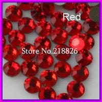 Free Shipping ! DMC Hotfix Rhinestone crystals Siam/Red,ss10(2.7-2.9mm) 1440pcs/bag/lot ,Flat back with glue