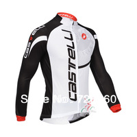 2013 castelli Winter Thermal Fleece Cycling Jersey Cycling Jacket Long Sleeve/Ciclismo Bicicletas Jersey Thermal cycle-montonT02