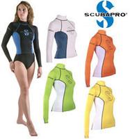 Original Scubapro T-flex lycra rash guard female for snorkeling diving swimming surfing bodyboarding waterskiing