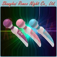 Leten Fashionable Colorful Shine Pulse Multi-Speed AV Massager Stick, Super Strong & Silent Waterproof Vibrator Sex Wand Toys