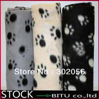 50pcs/lot printed fleece Pet Blanket Dog Mat  BG1694