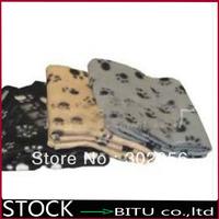 100pcs/lot printed fleece Pet Blanket Dog Mat  BG1694