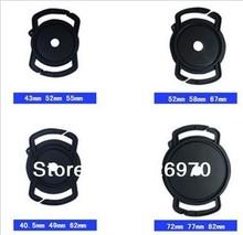 4pcs/lot  40.5/49/52/55/58/62/67/72/77/82mmUniversal Lens Cap Camera Buckle Lens Cap Holder Keeper free shipping