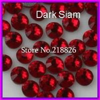 Free Shipping ! DMC Hotfix Rhinestone,Color Dark Siam,Size ss6(1.9-2mm) 1440pcs/bag/lot ,Flat back with glue