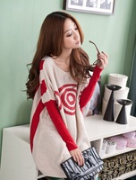 2013 Winter Fashion Women Batwing Sleeves Pullovers Sweater Elegance Lady Europen Style Big Size Sweater SW-0006