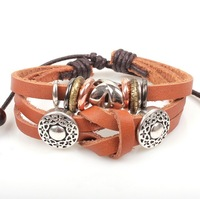 Tieclasps hot-selling beaded royal vintage bracelet fashion genuine leather bracelet small accessories