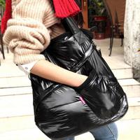autumn and winter hot-selling space bag cotton-padded down bag women's handbag shoulder bag