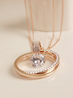 Fall in love high quality gorgeous high quality exquisite sparkling diamond fashion design long necklace autumn and winter