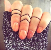 Min order $15 (Can Mix Item)  New Hot selling V shape handmade Thin Shiny Rings, Midi Knuckle ring