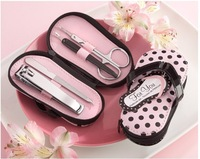 Pink Polka Flip Flop Pedicure Set with Matching Tag 60 SETS/LOT  Free shipping Wedding bridal shower favors