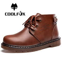 [Free shipping] 2013 New arrival fashion male genuine leather cowhide martin ankle boots snow boots big size men's shoes