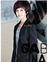 2014 Popular Front oblique bangs short hair female BOBO head hair short wig women