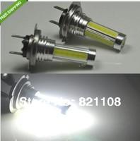 Free shipment 2x 15W Bright White H7 SMD LED COB Fog Daytime Light Lamp bulb HeadLight DRL