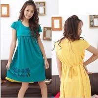 Женское платье Maternity clothing summer spaghetti strap nursing dress fashion breastfeeding pajama clothes colorful long loose skirt