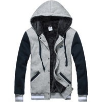 Hoodies, Sweatshirts man coat in winter fashion keep warm men's sportswear new brand quity pea jacket parka sport 2013 MANZ018