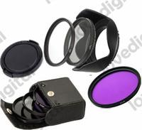 58MM Reversible Petal Flower Lens Hood + UV CPL FLD Filter Kit  for Canon Rebel T5i T4i T3i T3 T2i XSi