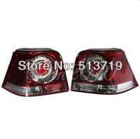 Red Rear Tail Light Lamps With bulbs Left & Right for VW Golf MK4 All Models