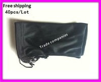 40pcs/lot Free Shipping Wholesale Black Spectacle Sunglass Eyewear Eyeglasses Glass Cloth Bag Pouch