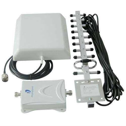 65dB GSM/DCS/4G/LTE 1800MHz Booster Cell Phone Signal Repeater/Amplifier + Black Cable + High Gain Panel and Yagi Antennas Kit(China (Mainland))