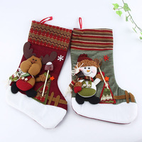 Wholesale Cute Personalized 3D Christmas Stocking Tree Decorations Sock For Kids Xmas Gift Free shipping&Drop shipping XZY0281