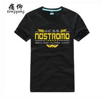 Alien Nostromo Crew Black Funny T Shirt Free Shipping Men Women %100 Cotton Short sleeve Fashion Casual Custom Red Print T-Shirt