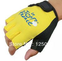 Cycling MTB/Road Bike Yellow Flexible Wearable Bicycle Sports Half Finger Gloves