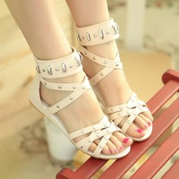 Free shipping 2013 flat sandals women's sandals flat heel sandals shoes