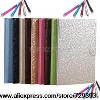 Hexagon grain PU LEATHER CASE COVER STAND FOR New APPLE iPad 5 iPad Air ipad5 2013 Free Stylus