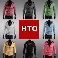 Free shipping! 2013 Men's  Cotton Coat Sweatshirt,fashion Hoodie Jacket ,8 colors,casual,slim,cardigan style