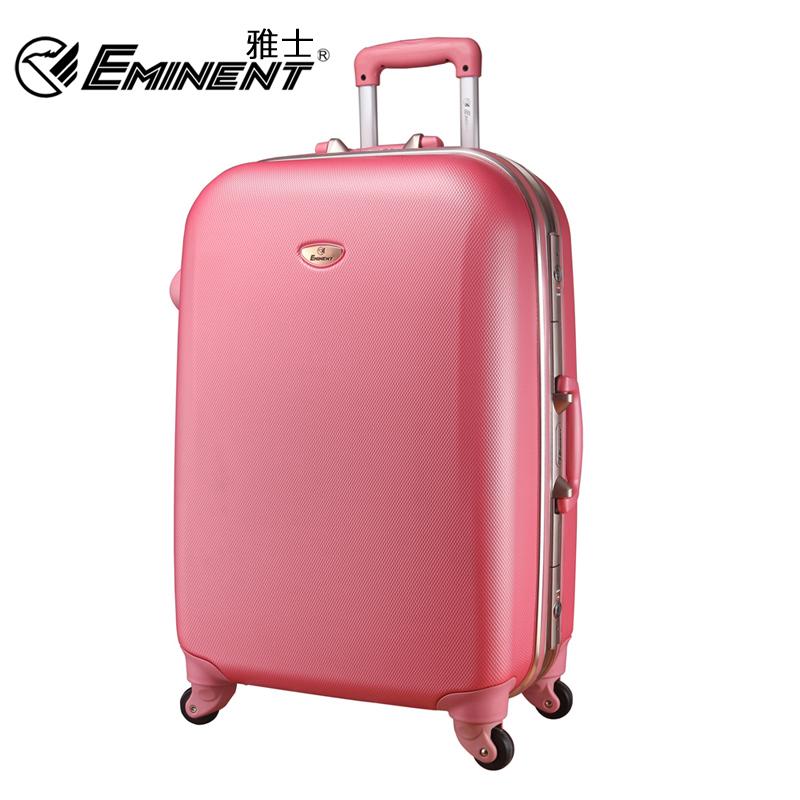 "Free shipping Eminent universal wheels aluminum frame trolley luggage ABS luggage suitcase trolley luggage travel bag20""25""29""(China (Mainland))"