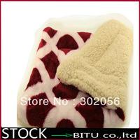 20pcs/lot Warm coral velvet doghouse pad Sherpa pet cushion BG1696