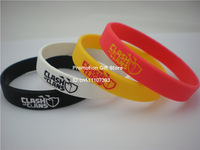 Clash of Clans Wristband, Silicon Bracelet, Adult, 4Colours, Colour Filled in Logo, 100pcs/Lot, Free Shipping
