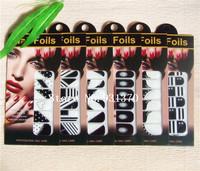 Hot 16 styles (12 pcs/set) optional Nail Polish sticker French Manucure Nail Patch 32 sets