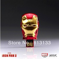 Free Shipping 4GB 8GB 16GB 32GB 64GB LED Avengers Iron man 3 USB Flash Drive Memory Stick U disk pendrives eye has LED light