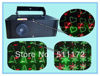New Version ! 2pcs one lot !  Mini Red&Grenn Animation Grating Laser Light With High Speed Galvo Scanner For Chrismas Party