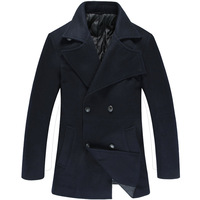 windcheater double-breasted new men's stylish trench coat winter jacket double overcoat woolen male long design big wool MANZ023