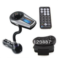 Bluetooth Steering Wheel Car Kit MP3 Player Handsfree FM Transmitter Silver