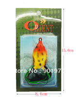 Free shipping 3 pcs ,top water fishing lure frog ,crankbait ray frog