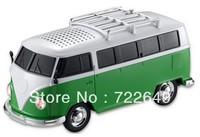Potable Music WS-266 Bus Mini Speaker Car/Home Toy Player Gift Loudspeakes TF Card/USB/MP3 Mini 20pcs DHL Free Ship