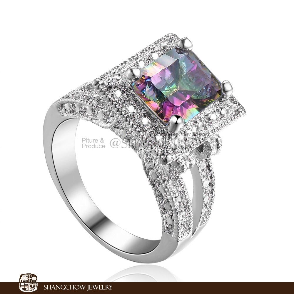 get cheap mystic topaz jewelry aliexpress