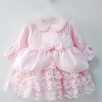 Female baby child dress princess dress long-sleeve clothing spring and autumn